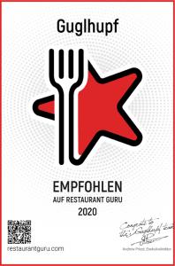 Guglhupf Guru 2021 Auszeichnung